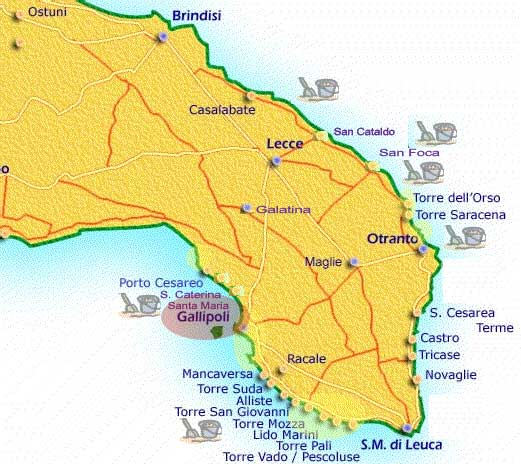 Gallipoli Cartina Puglia.Mappa Gallipoli Gallipoli Puglia